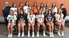 Members of the Newsday All-Long Island girls lacrosse