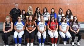 Members of the Newsday All-Long Island softball team