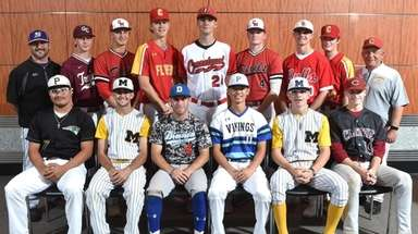 Members of the Newsday All-Long Island baseball team