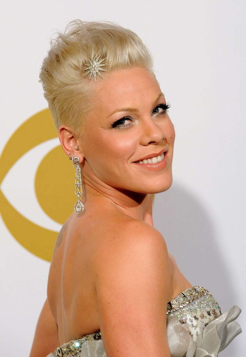 Stage name: Pink Birth name: Alecia Beth Moore