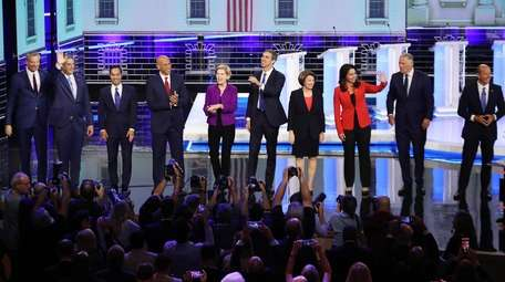 The 10 candidates on the first night of