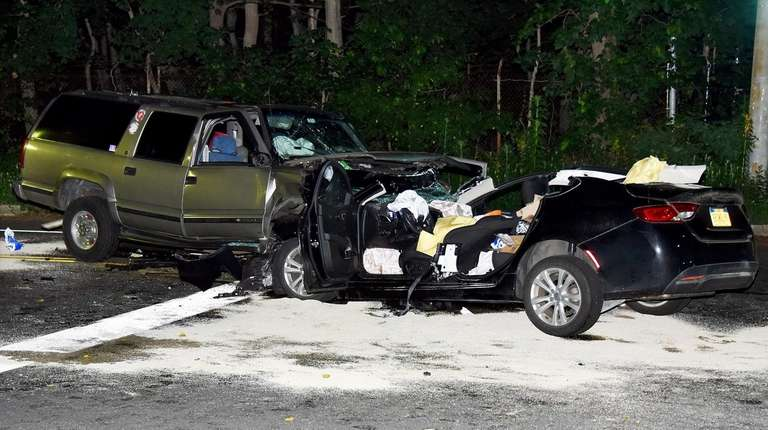 Drivers of two vehicles involved in a crash
