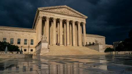 The Supreme Court building in Washington is seen