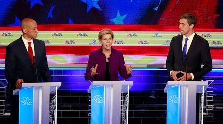Democratic presidential candidate Sen. Elizabeth Warren, D-Mass., speaks