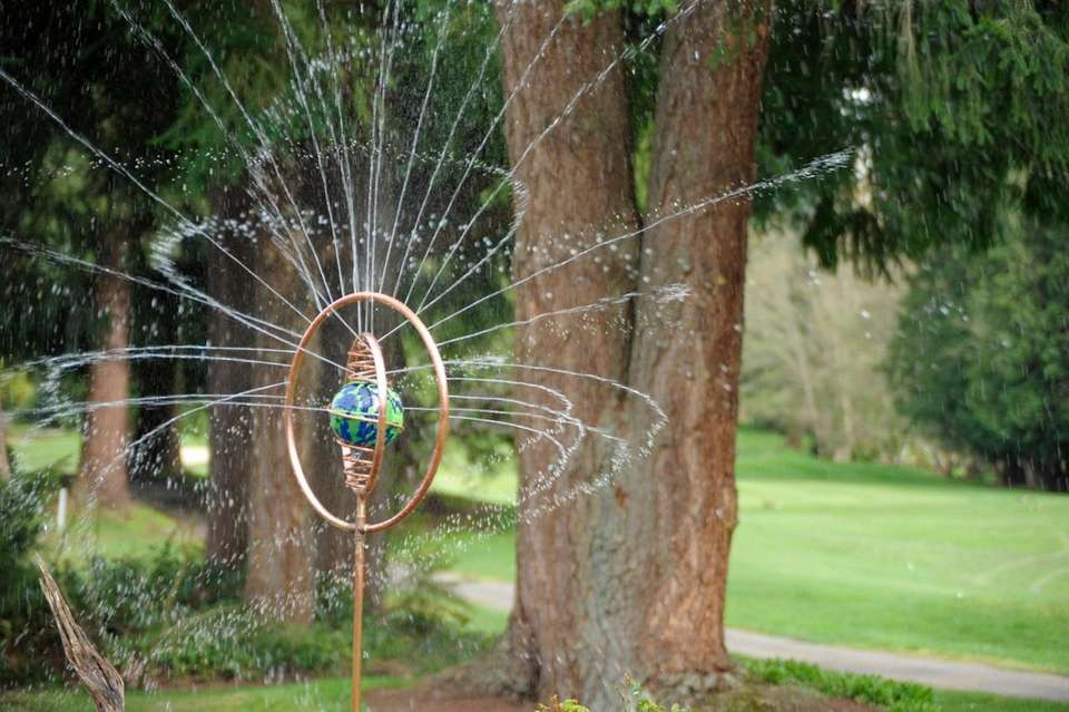 Spinning orb garden sprinkler. Whether you see this