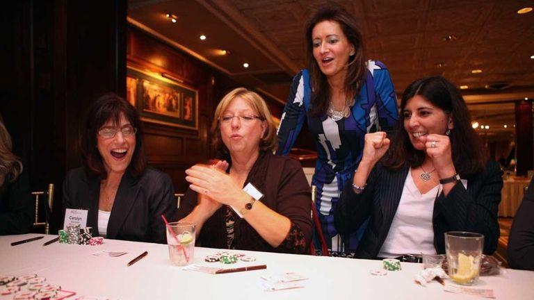 Carolyn Mazzenga (left), of Fort Salonga, Linda Karlas,