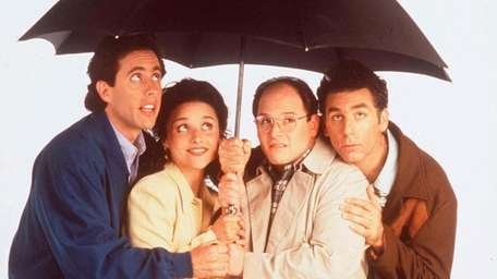 Jerry Seinfeld, left, Julia-Louis Dreyfus, Jason Alexander and