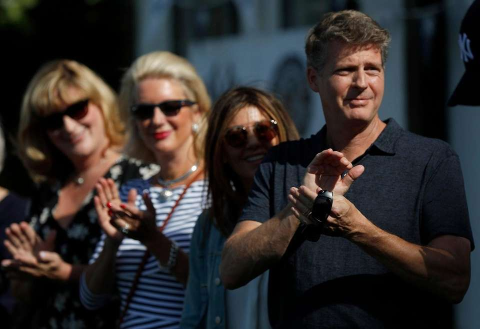 From right, Yankee controlling owner Hal Steinbrenner, his