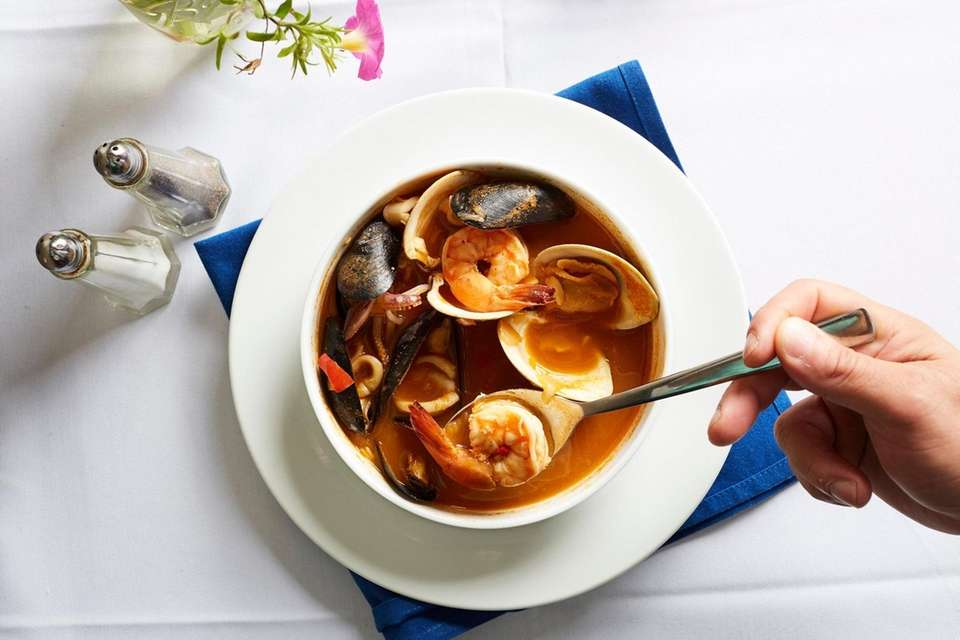 Seafood soup at Coral Tapas and Wine Bar
