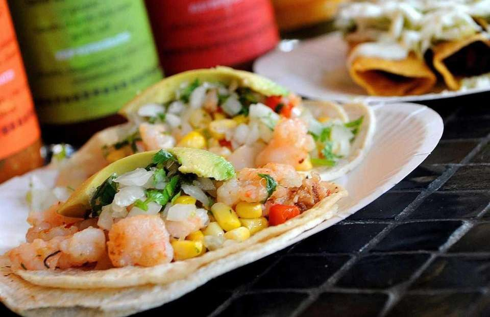 Shrimp tacos, one of the delicacies served at