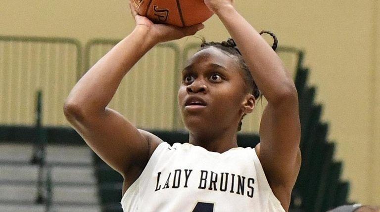 Baldwin's Kaia Harrison shoots for a basket as