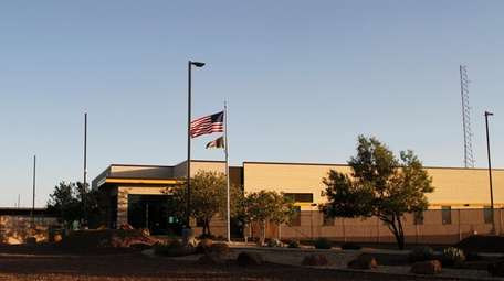 The entrance of a Border Patrol station in