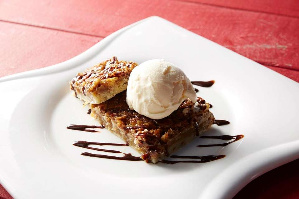 Pecan pie is one of the desserts served