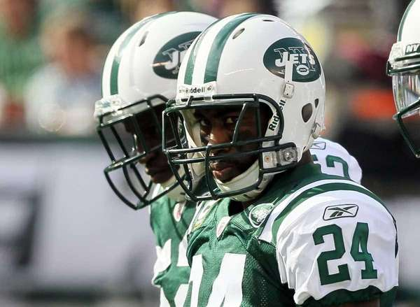 Darrelle Revis of the New York Jets looks