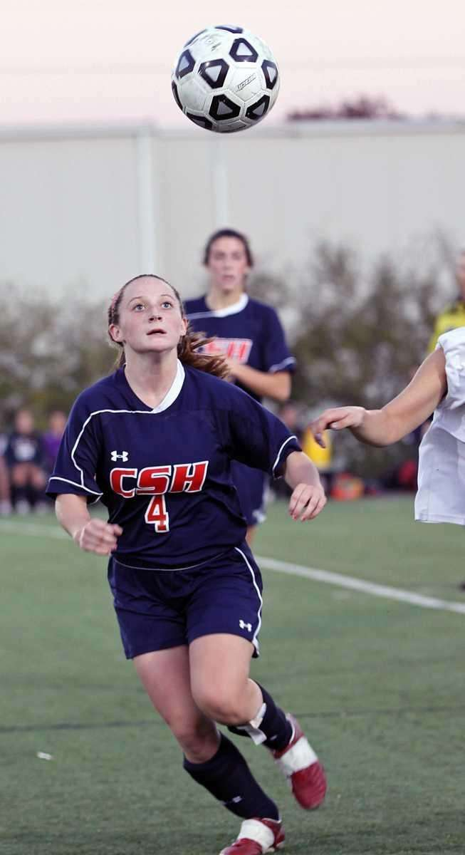 Cold Spring Harbor's Alicia Roy who scored the
