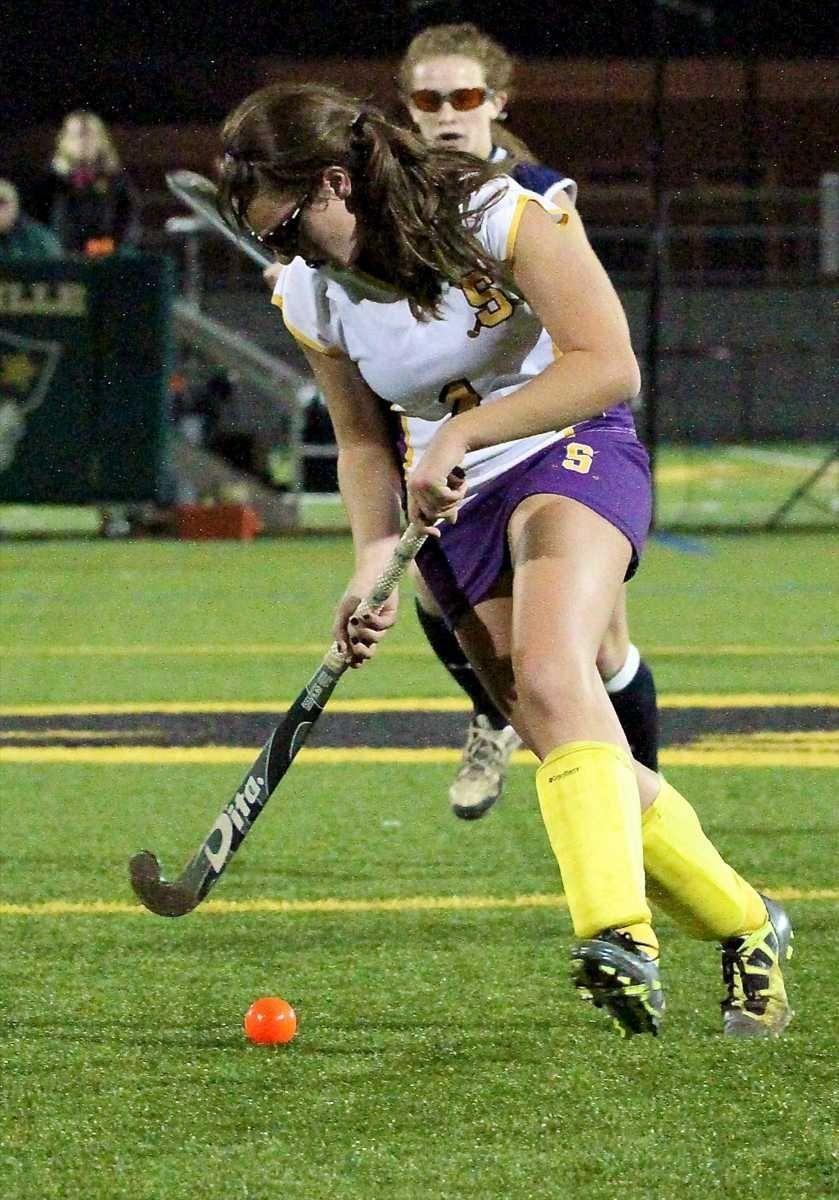 Sayville F Julianna Fiorillo #1, moves the ball