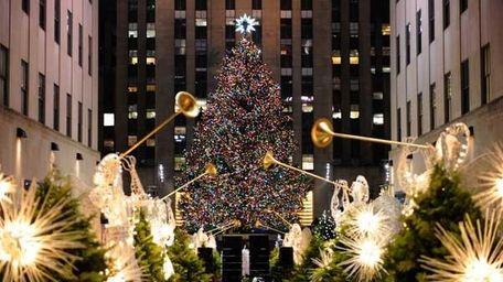 Rockefeller Center Christmas Tree is lit on November