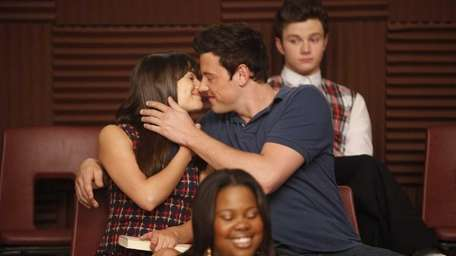 Lea Michele and Cory Monteith, who play Rachel