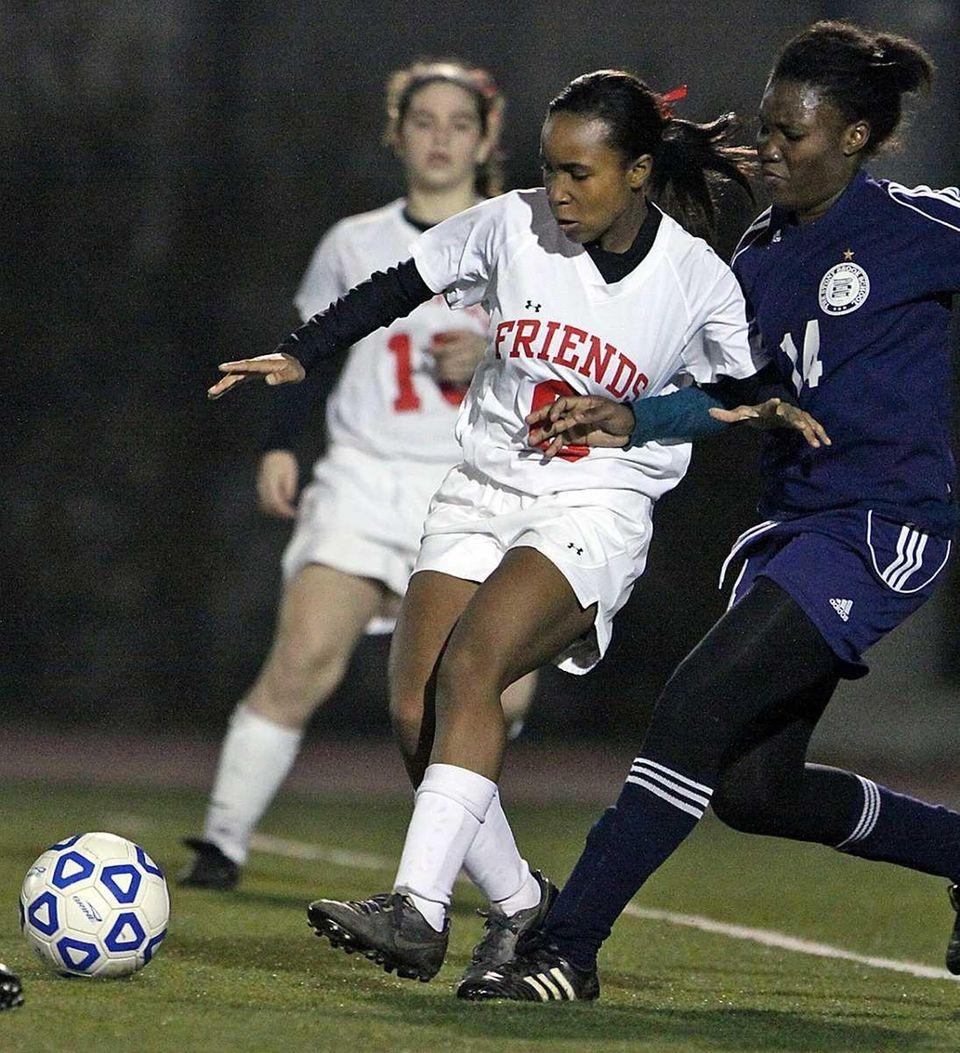 Friends Academy's Shekinah Pettway who had a goal