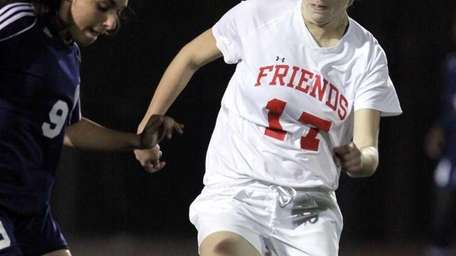 Friends Academy's Krystina Iordanou who had a goal