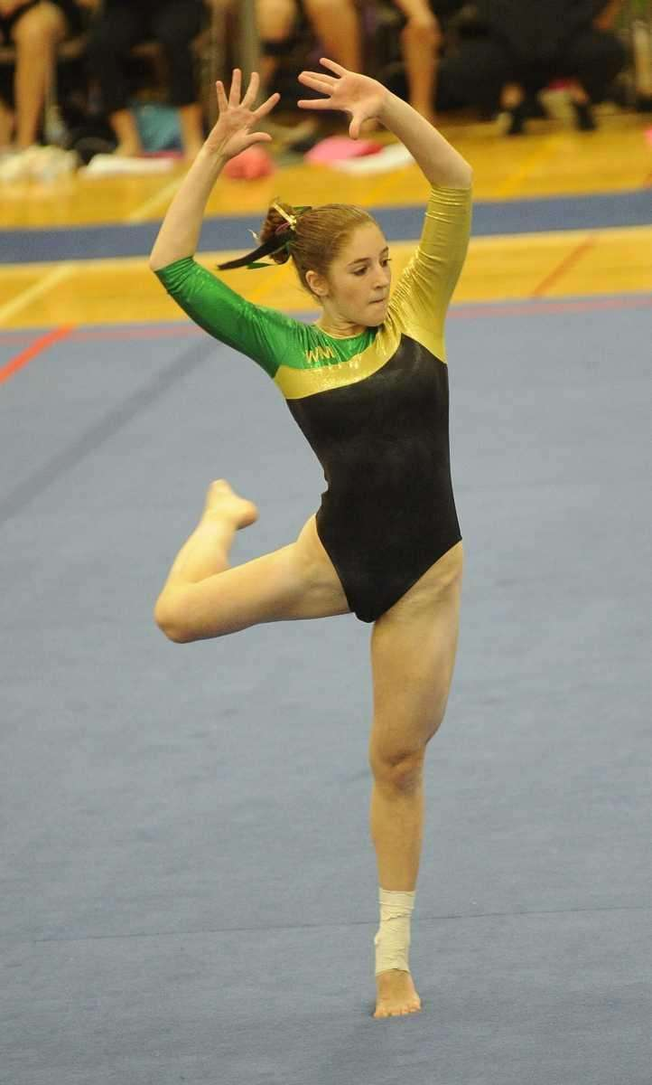 Ward Melville's Eugenia Zhukovsky performs during the floor