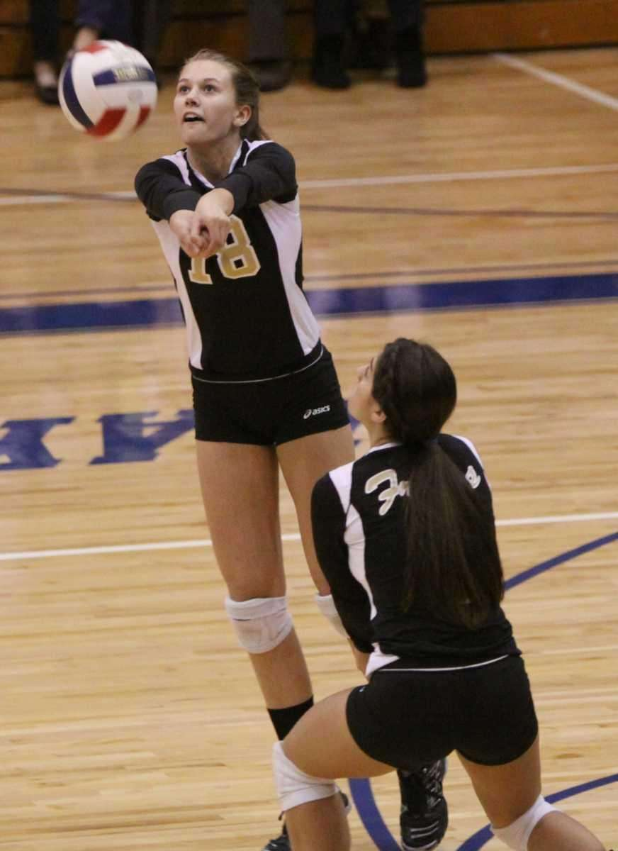 St. Anthony's Samantha Zebuth bumps the ball during
