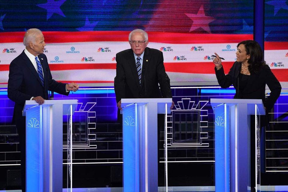 Former Vice President Joe. Biden, left, Sen. Bernie