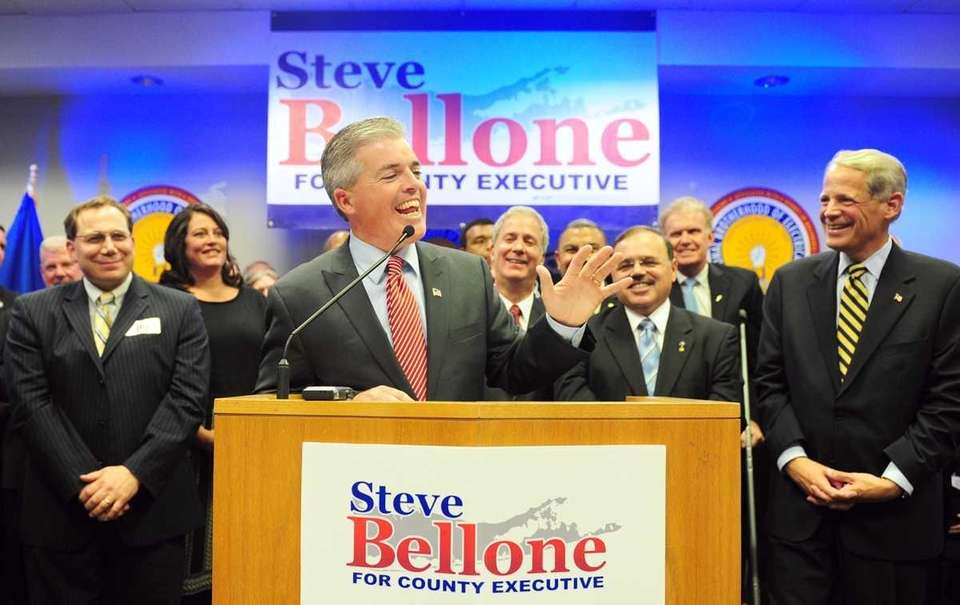 Steve Bellone speaks to supporters at the Democratic