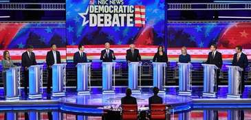 Democratic presidential hopefuls participate in the second Democratic