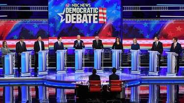 Democratic presidential hopefuls participate in the second Democratic