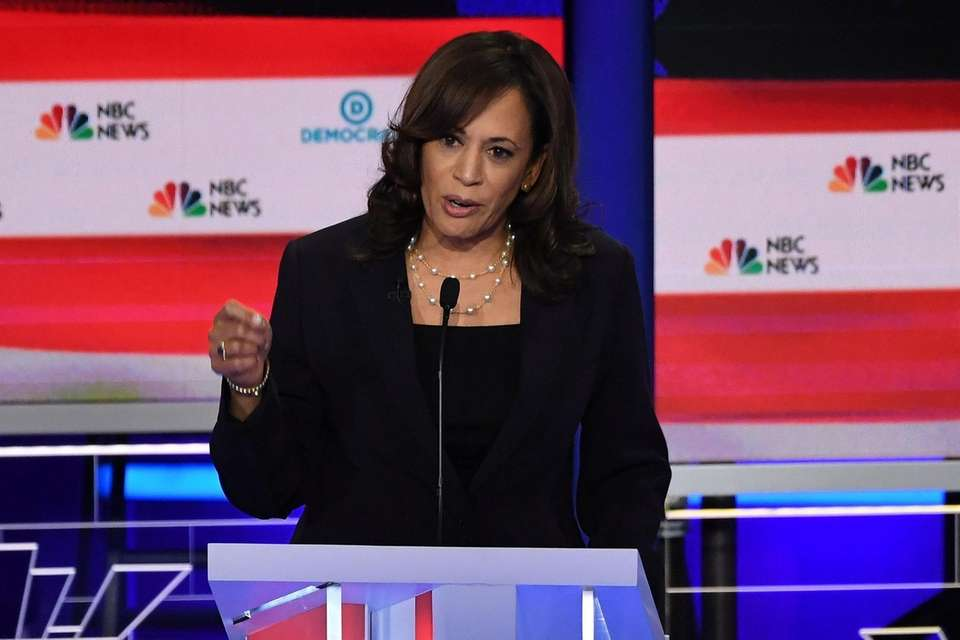 Democratic presidential hopeful US Senator for California Kamala