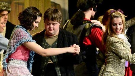 Jesse Wickey, 18, of Shoreham, dances with Polka