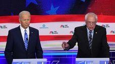 Democratic presidential hopefuls former U.S. Vice President Joe
