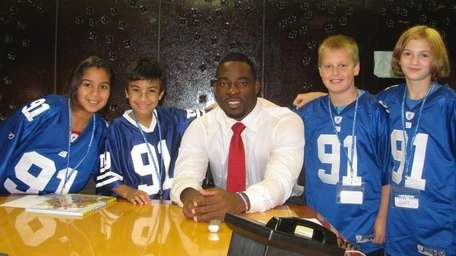 New York Giants defensive end Justin Tuck with