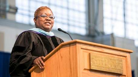 Suffolk County Community College trustee Theresa Sanders has