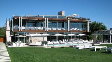 The Bridgehampton house.