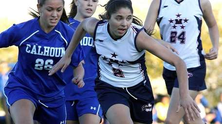MacArthur's Jenny Scro out in front during the