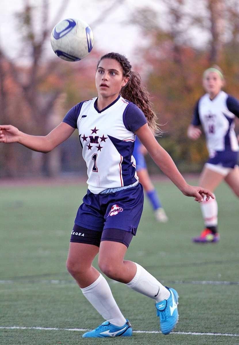 MacArthur's Arianna Montefusco keeps ball steady during the