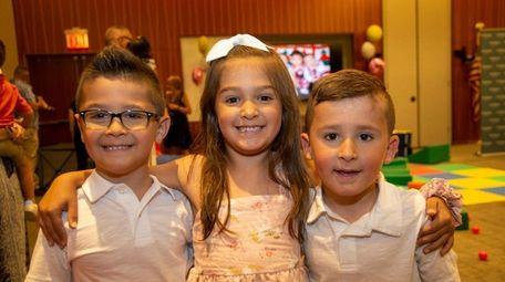 Triplets Luke, Brianna, and Chase Katsavos of Lynbrook.