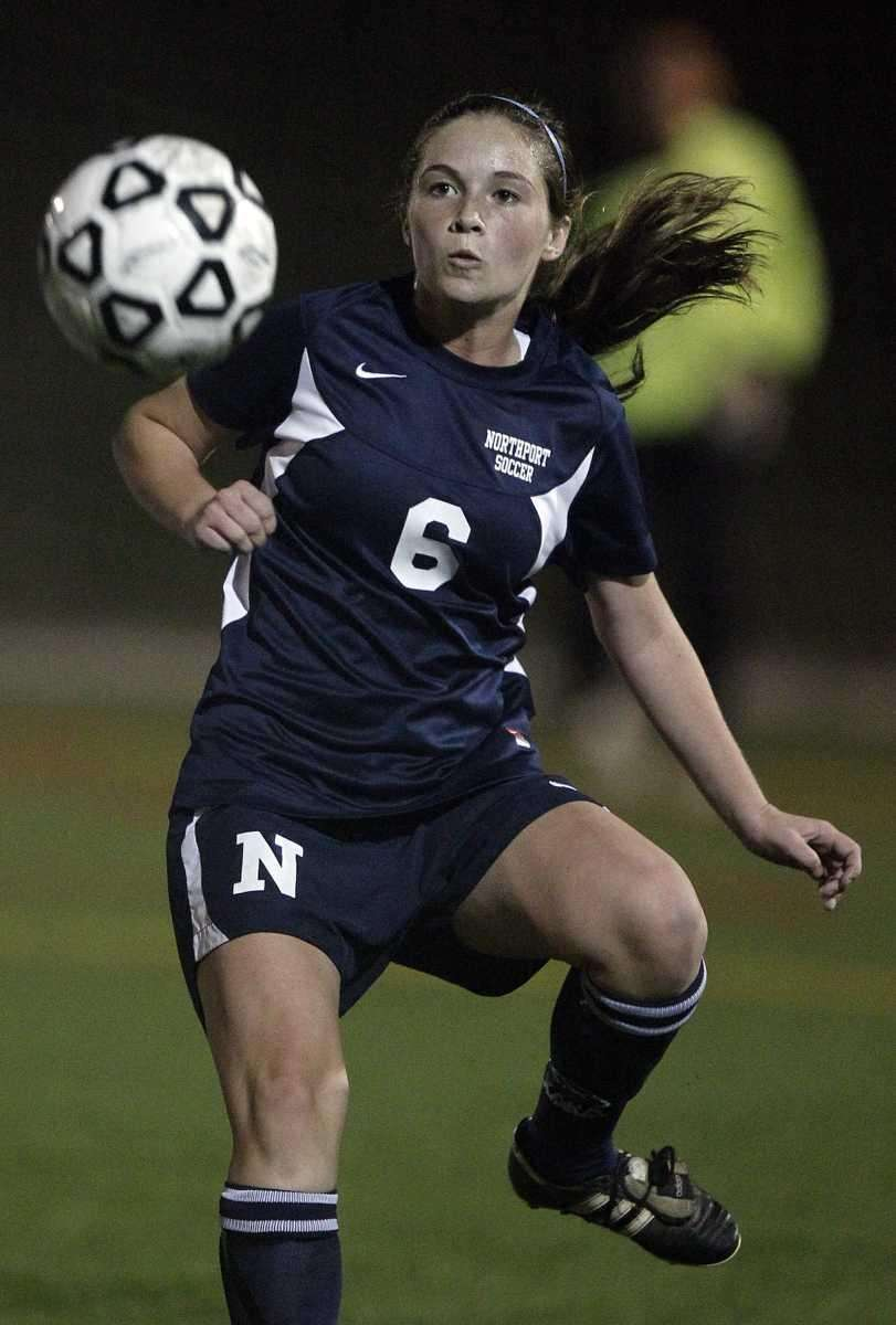 Northport's Miki Martinov (6) controls a pass in