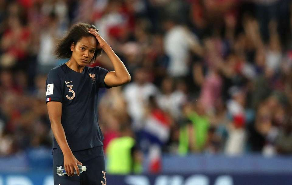 France's Wendie Renard after the teams loss to