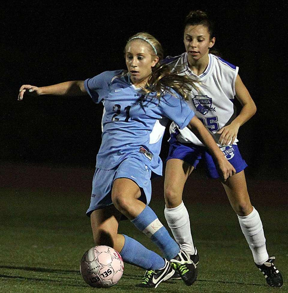 South Side's Christina Klaum with the ball during