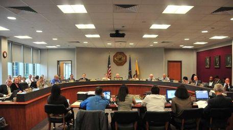 A file photo of the Suffolk County legislature