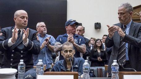 Retired NYPD Det. Luis Alvarez spoke June 11