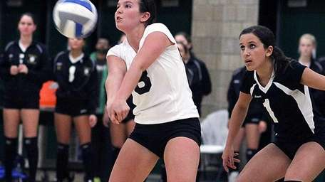 Wantagh's Christina Ellul with the dig during the