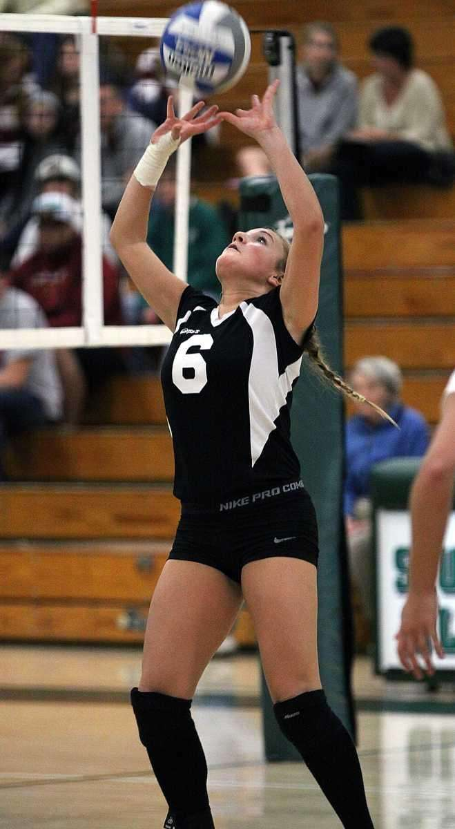 Wantagh's Carly Simeone with the set during the