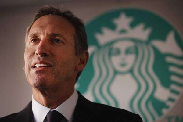 Starbucks chief executive Howard Schultz said on Nov.