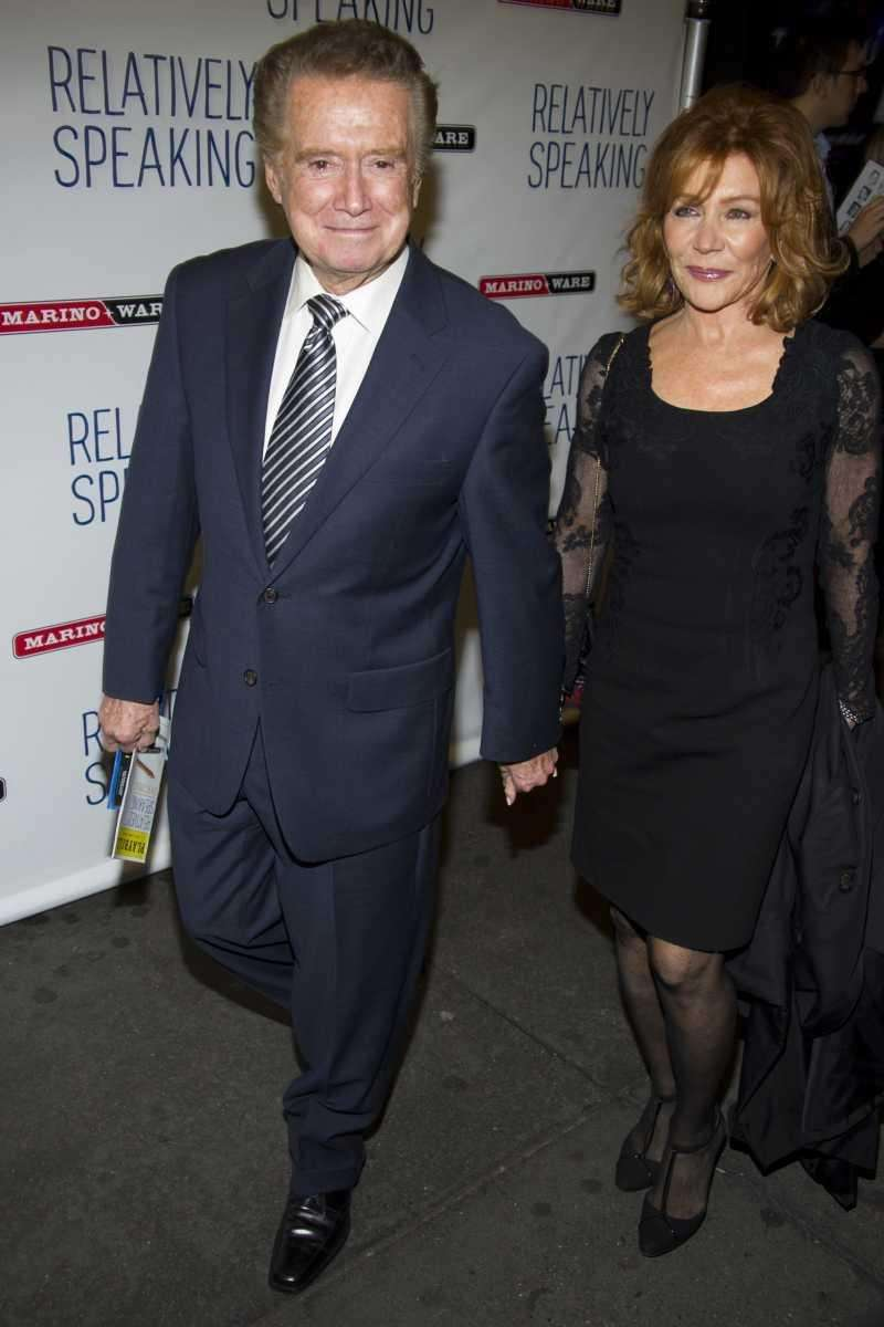 Regis and Joy Philbin arrive for the opening