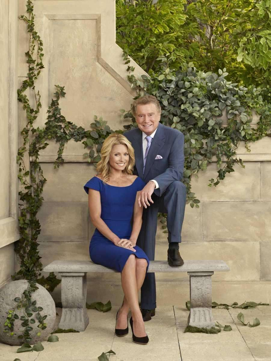 Regis Philbin with Kelly Ripa in a promotional