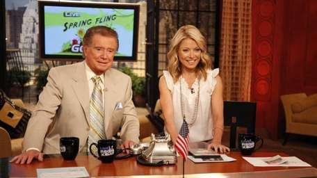Regis Philbin and Kelly Ripa on